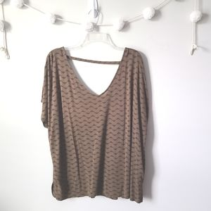 Old Navy Olive Green Print Dolman Top